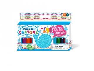 Lemosható szappankréta, 8 db-os kreatív játék a fürdőkádba (3-6 év)