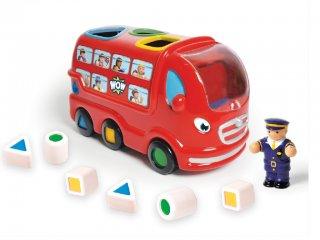 Leo, a hátul pakolós londoni busz (Wow Toys, formaberakó bébijáték, 1-5 év)