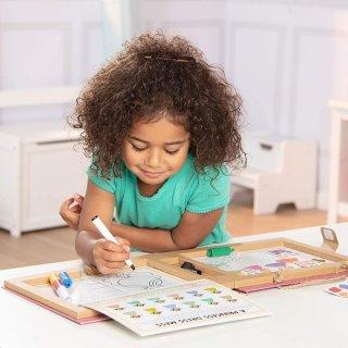 Letörölhető rajzoló és mágneses tábla Hercegnő, Melissa&Doug kreatív szett (41322, 3-7 év)