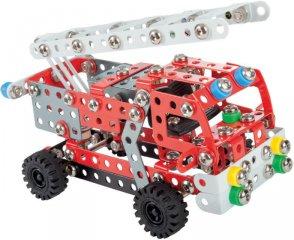 Létrás tűzoltóautó fém építőjáték, 314 db-os tudományos építőkészlet (8-14 év)