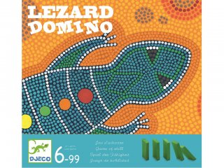 Lezardomino, Gyík dominó (Djeco, 8437, ügyességi társasjáték, 6-99 év)