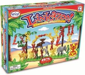 Linkazoo, Szórakoztató állatos ügyességi játék (kreatív, egyensúlyozós, finom motorikát fejlesztő építőjáték, 4-99 év)