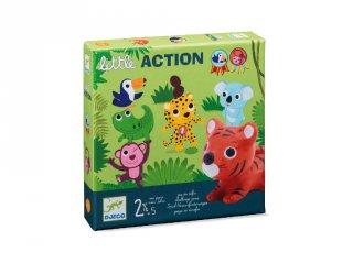 Little action (Djeco, 8557, első társasjáték, 2-5 év)