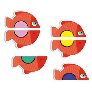 Little Puzzle Színjáték, Djeco színegyeztetős képkirakó kártyajáték- 5060 (2-5 év)
