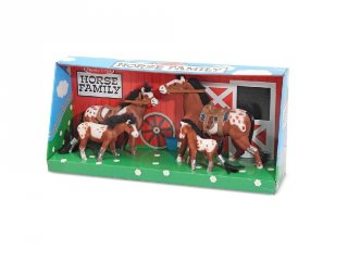 Ló figurák, paci család, szerepjáték kiegészítő (MD, 3-8 év)