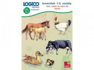 LOGICO Piccolo, Házi-, hobbi- és vadon élő állatok 1-2. osztály (3461, egyszemélyes, környezetismereti, fejlesztő játék, 5-8 év)