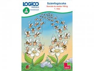 LOGICO Piccolo, Számfogócska: Szorzás és osztás 100-ig feladatlapok 1. rész (3483, egyszemélyes, matematikai, fejlesztő játék, 8 éves kortól)
