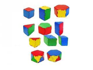 Logikai építőjáték bőröndben (Miniland, 32122, Conexion, 53 db-os formakirakó játék, 5-9 év)