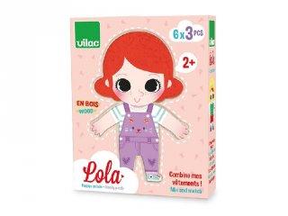 Lola felöltözik, fa kirakó (4660, 2-4 év)
