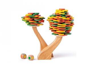 Lombkorona építő, ügyességi játék fából (3-8 év)