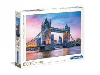 London Tower Bridge puzzle, 1500 db-os kirakó (CLEM, 9-99 év)