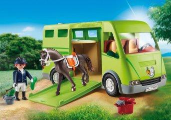 Lószállító kocsi, Playmobil szerepjáték (6928, 4-10 év)
