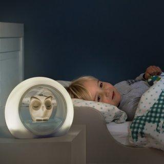 Lou bagoly, hangérzékelős éjjeli lámpa drapp, gyerekszoba kiegészítő (ZA)