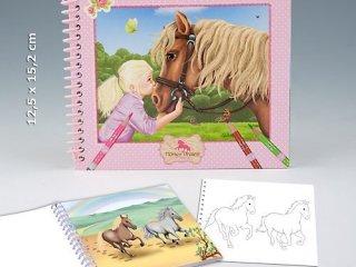Lovas, matricás kifestő füzet (Lovas Álmok, Horses Dreams, matricákkal, 8 év-12 év)