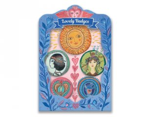 Lovely Badges Djeco kitűzők, Kelet - 3855 (5 db)