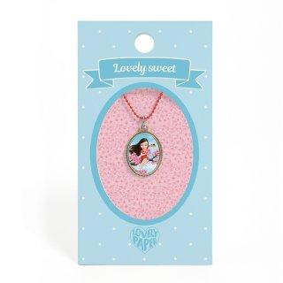 Lovely Sweet Djeco nyaklánc tavaszi lány medállal - 3824