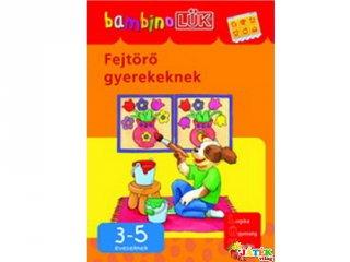 Lük Bambino, Fejtörő gyerekeknek (egyszemélyes fejlesztő, logikai játék, 3-5 év)