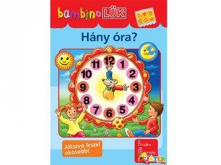 Lük Bambino, Hány óra? (egyszemélyes fejlesztő, logikai játék, 4-6 év)