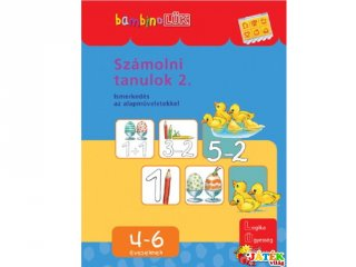 Lük bambino, Számolni tanulok 2. (egyszemélyes fejlesztő, logikai játék, 3-5 év)