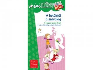 Lük Mini, A betűktől a szavakig, bevezető gyakorlatok (egyszemélyes, vizuális, fejlesztő játék, 6-8 éveseknek)