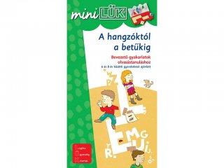 Lük Mini, A hangzóktól a betűkig, Bevezető gyakorlatok olvasástanuláshoz (egyszemélyes fejlesztőjáték, 6-8 év)