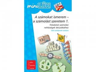 Lük Mini, A számokat ismerem - a számolást szeretem 1., feladatok számolási nehézségek leküzdéséhez (egyszemélyes, logikai fejlesztőjáték, 6 éves kortól)