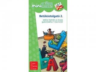 Lük Mini, Betűkostolgató 2., játékos fejtörők az olvasás gyakorlásához (egyszemélyes, olvasási fejlesztőjáték, 7-10 év)