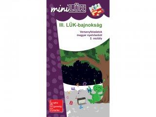Lük Mini, III. LÜK Bajnokság, versenyfeladatok magyar nyelvtanból, 2. osztály (egyszemélyes, nyelvtani fejlesztőjáték, 8 éves kortól)