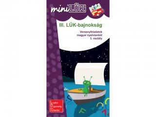 Lük Mini, III. LÜK bajnokság, versenyfeladatok magyar nyelvtanból, 3. osztály (egyszemélyes, nyelvtani fejlesztőjáték, 8 éves kortól)