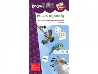 Lük Mini, IV. LÜK-bajnokság matematikából, 2. osztály (egyszemélyes, versenyfeladatok, 8 éves kortól)
