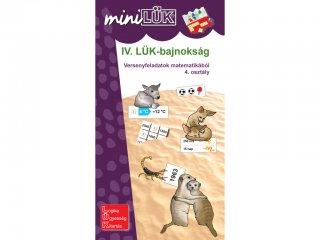 Lük Mini, IV. LÜK bajnokság matematikából, 4. osztály (egyszemélyes, matematikai fejlesztőjáték, 5-8 év)