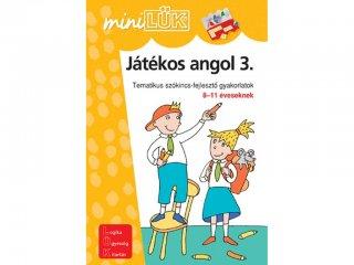 Lük Mini, Játékos angol 3., tematikus szókincsfejlesztő gyakorlatok (egyszemélyes, nyelvi fejlesztőjáték, 5-12 év)