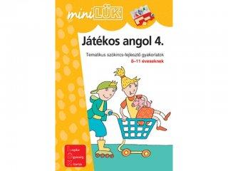 Lük Mini, Játékos angol 4., tematikus szókincsfejlesztő gyakorlatok (egyszemélyes, nyelvi fejlesztőjáték, 5-12 év)