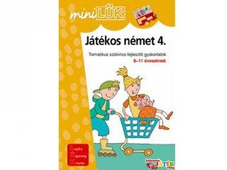 Lük Mini, Játékos német 4. (egyszemélyes, nyelvi fejlesztőjáték, 7-10 év)