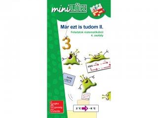 Lük Mini, Már ezt is tudom II., feladatok matematikából, 4. osztály (egyszemélyes, fejlesztőjáték, 9-10 év)