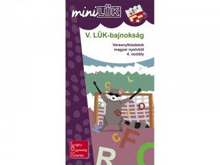 Lük Mini, V. LÜK bajnokság magyar nyelvtanból, 4. osztály (egyszemélyes, helyesírási fejlesztőjáték, 8 éves kortól)