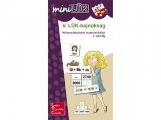 Lük Mini, V. LÜK-bajnokság matematikából 4.osztály (egyszemélyes, logikai fejlesztőjáték, 8 éves kortól)