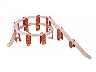 Magassági vasútpálya (Bigjigs, vonatos játék, 3-10 év)