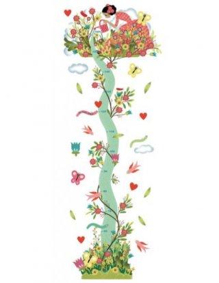 Magasságmérő falmatrica, Az ifjú hölgy kertje, Djeco faldekoráció - 4041 (0-12 év)