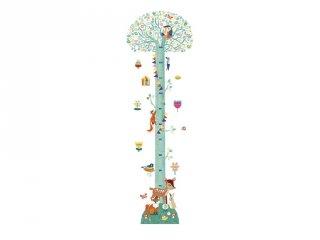 Magasságmérő falmatrica, Virágzó fa, Djeco faldekoráció - 4038 (0-7 év)