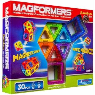 Magformers 30 db-os készlet (különleges, mágneses építőjáték, 3-12 év)
