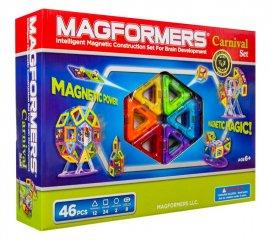 Magformers Carnival Set, Vidámpark, 46 db-os készlet (különleges, mágneses építőjáték: körhinták, óriáskerekek, hinták, 3-12 év)
