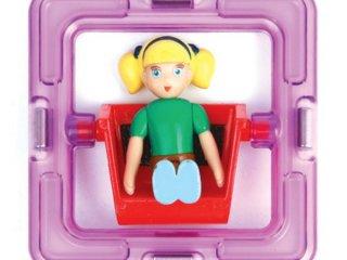 Magformers Forgó figura, Lány (Kellék a Magformers építményekhez, autókhoz, vidámparki elemekhez, 3-12 év)