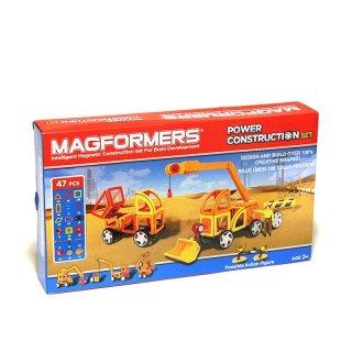 Magformers, Power Construction (Munkagépek, 54 db-os kreatív mágneses építőjáték, 3-14 év)