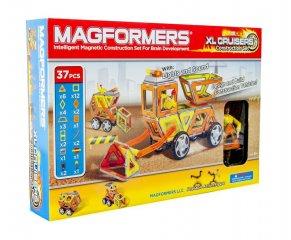 Magformers XL Cruiser Constuction set, Munkagépek, 27 db-os készlet (különleges, mágneses építőjáték: munkagépek, 3-12 év)