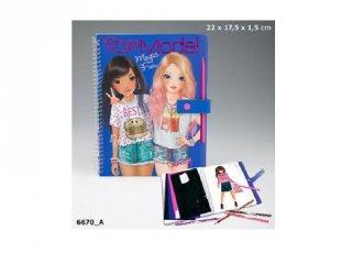 Magic Fun, Top Model ruhatervező könyv, kreatív játék (8-12 év)