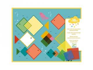 Magic squares kollázsképkészítő, Djeco kreatív készlet - 8975 (1,5-3 év)
