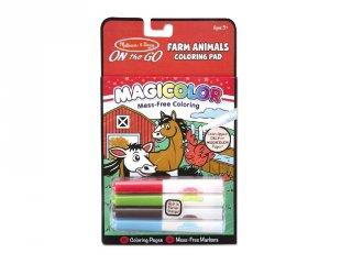 Mágikus színező füzet, háziállatok (Melissa&Doug, kreatív játék, 3-7 év)