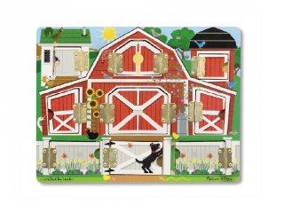 Mágneses bújócska tábla Farm, Melissa&Doug fa készségfejlesztő játék (2-4 év)