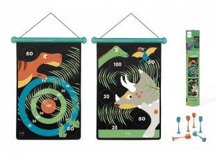 Mágneses darts Dínók, ügyességi játék 40x31 cm (Scratch, 5-10 év)